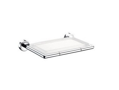Wall-mounted glass soap dish H2O | Glass soap dish by INDA®