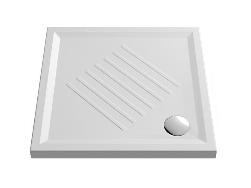 Piatto Doccia 140 X 80 Ceramica.Anti Slip Square Ceramic Shower Tray H6 90x90 By Gsi Ceramica