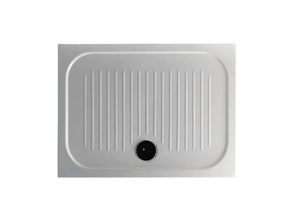Anti-slip rectangular shower tray H6 - FLAT - 70 x 100 by GALASSIA