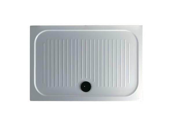 Anti-slip rectangular shower tray H6 - FLAT - 70 x 120 by GALASSIA