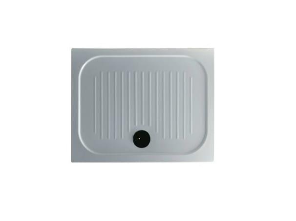 Anti-slip rectangular shower tray H6 - FLAT - 72 x 90 by GALASSIA