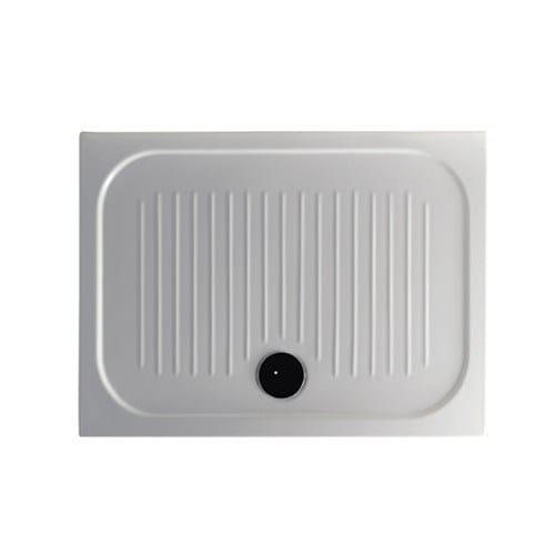 Anti-slip rectangular shower tray H6 - FLAT - 75 x 100 by GALASSIA