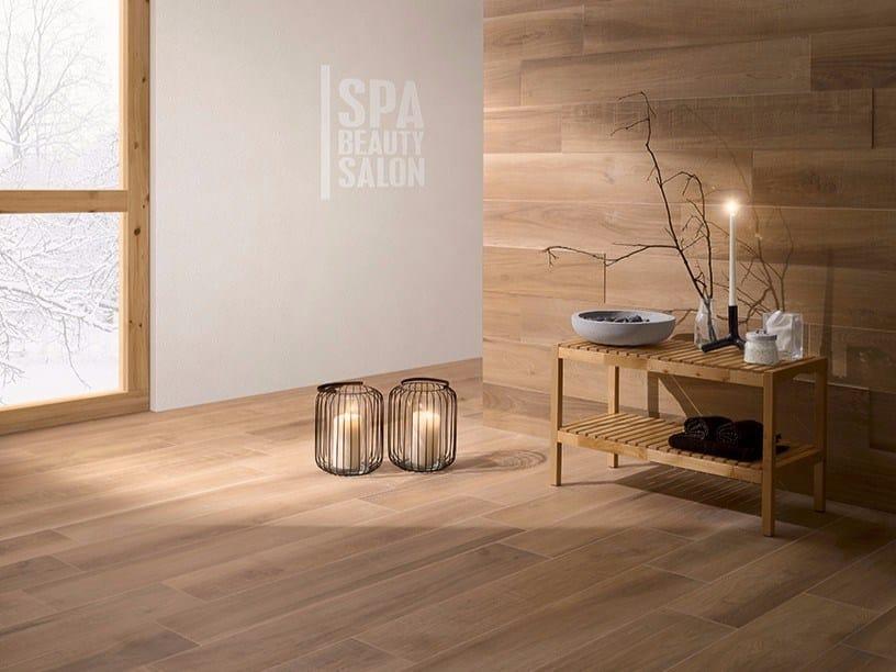 Pavimento in gres porcellanato effetto legno habita collezione