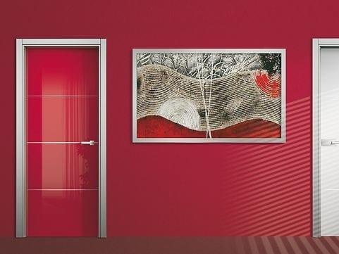 Hinged lacquered door HABITAT HB/AL-F3 by ROYAL PAT
