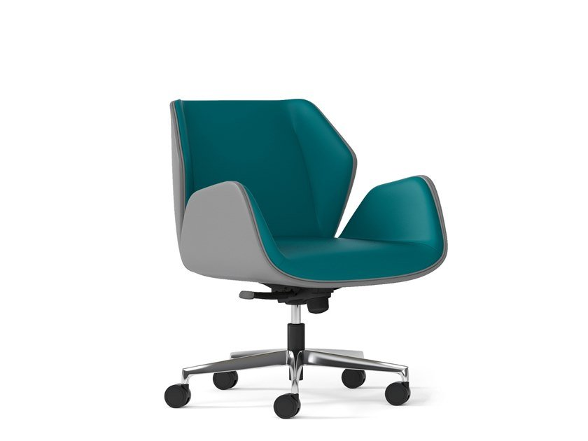 Executive chair with 5-spoke base with casters HAIKU   Executive chair with 5-spoke base by Arte & D