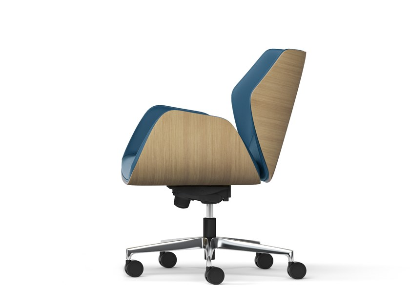 Executive chair with 5-spoke base with casters HAIKU WOOD | Executive chair with 5-spoke base by Arte & D