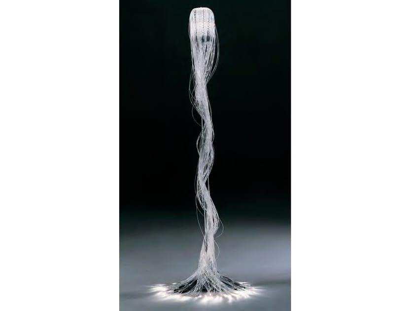 Fiber optic steel floor lamp HAIR by Mirabili