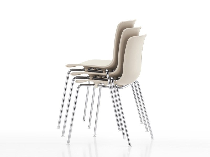 Stackable polypropylene chair HAL TUBE STACKABLE by Vitra