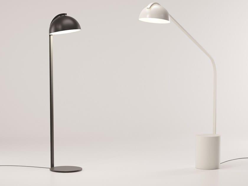 Lampada da terra per esterno in alluminio HALF DOME by Kettal