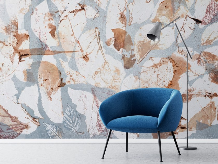 Ecological washable PVC free wallpaper HALF LEAVES by Wallpepper
