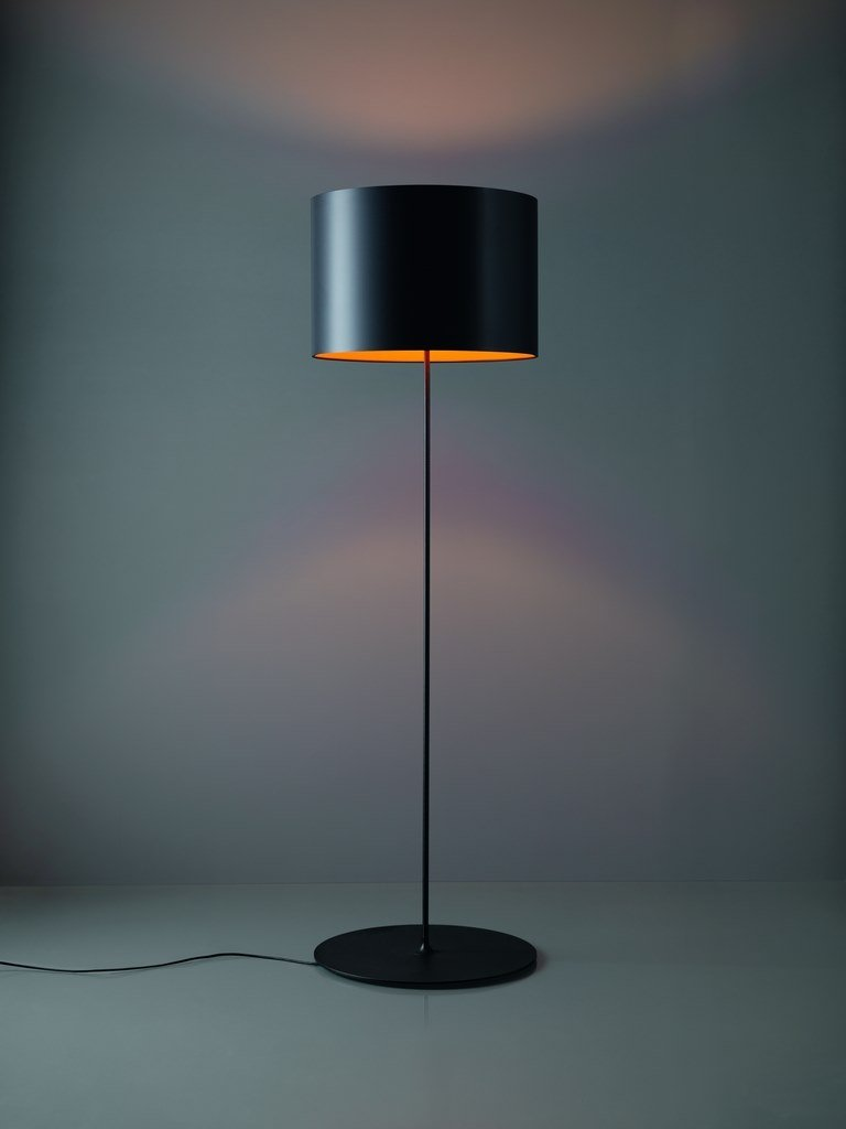 Carbon fibre floor lamp HALF MOON | Floor lamp by Quadrifoglio