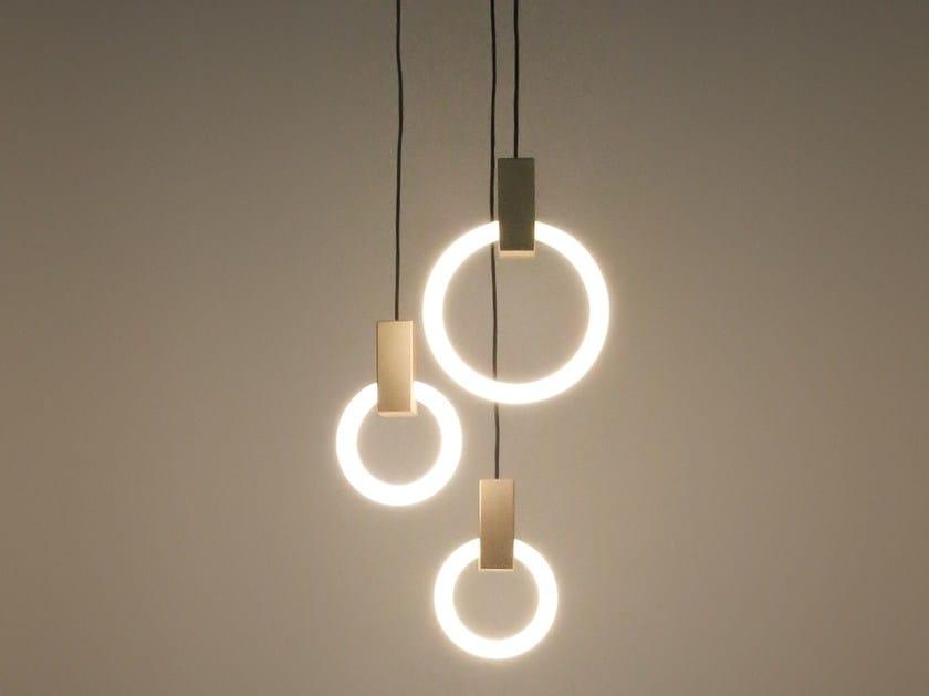 Aluminium pendant lamp HALO by Matthew McCormick