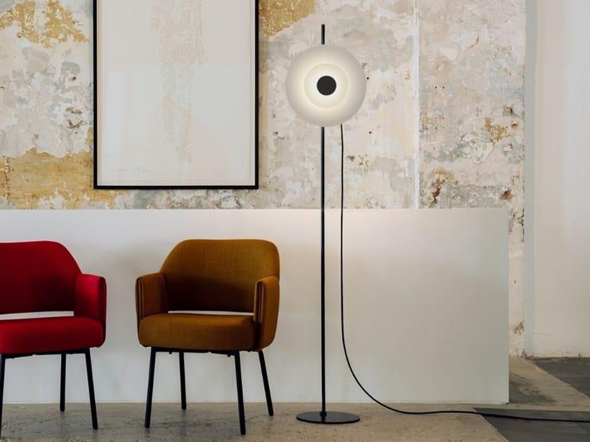 LED satin glass floor lamp HALOS 6782 by Milan Iluminacion