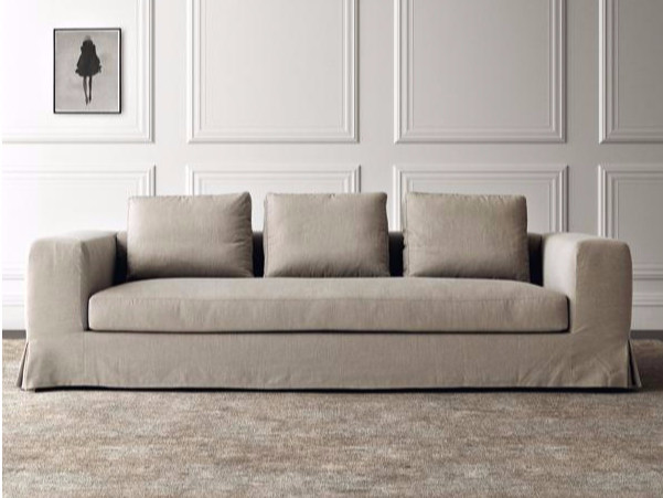 3 seater fabric sofa with removable cover HAMPTONS | 3 seater sofa by Casamilano