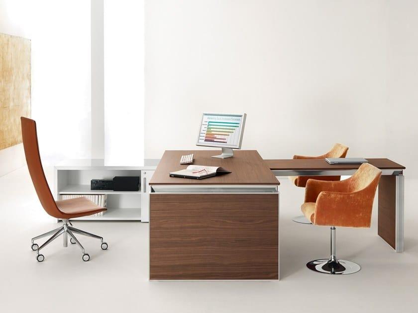 Rectangular wooden office desk HAN | Wooden office desk by Martex