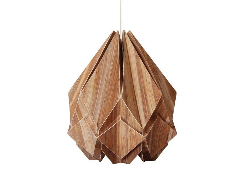 Handmade paper pendant lamp HANAHI ECOWOOD by Tedzukuri Atelier