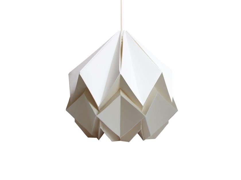 Handmade paper pendant lamp HANAHI SMALL BICOLOR by Tedzukuri Atelier