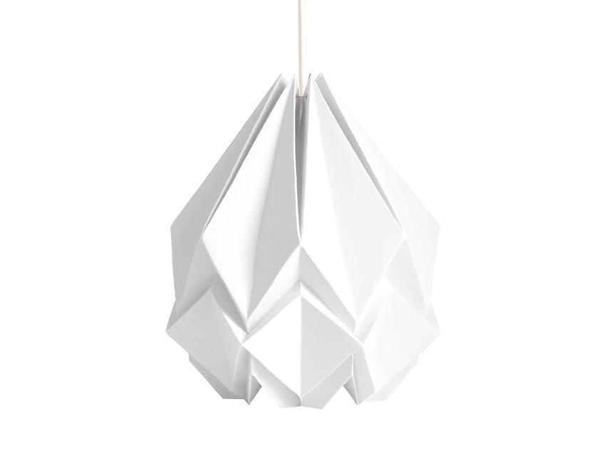 Handmade paper pendant lamp HANAHI XXL by Tedzukuri Atelier