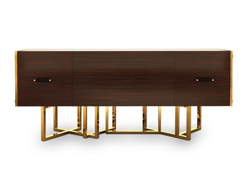 Oak sideboard with doors HANCOCK by Porustudio