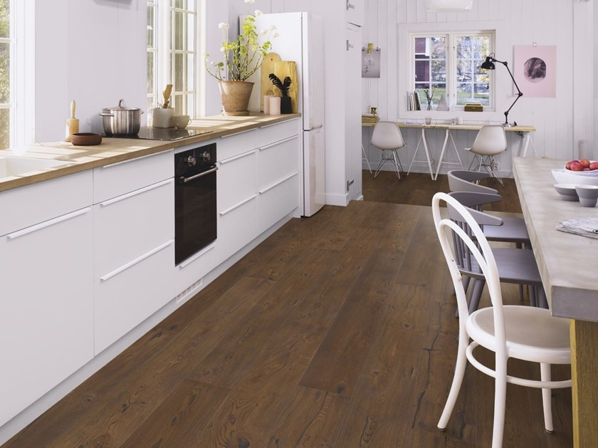 Parquet 3 strati in rovere HANDCRAFTED ROVERE ANTIQUE BROWN by BOEN