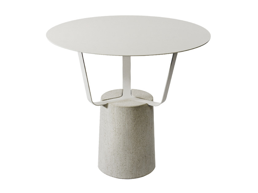 Steel garden side table HANSEL | Garden side table by Monolithe Edition