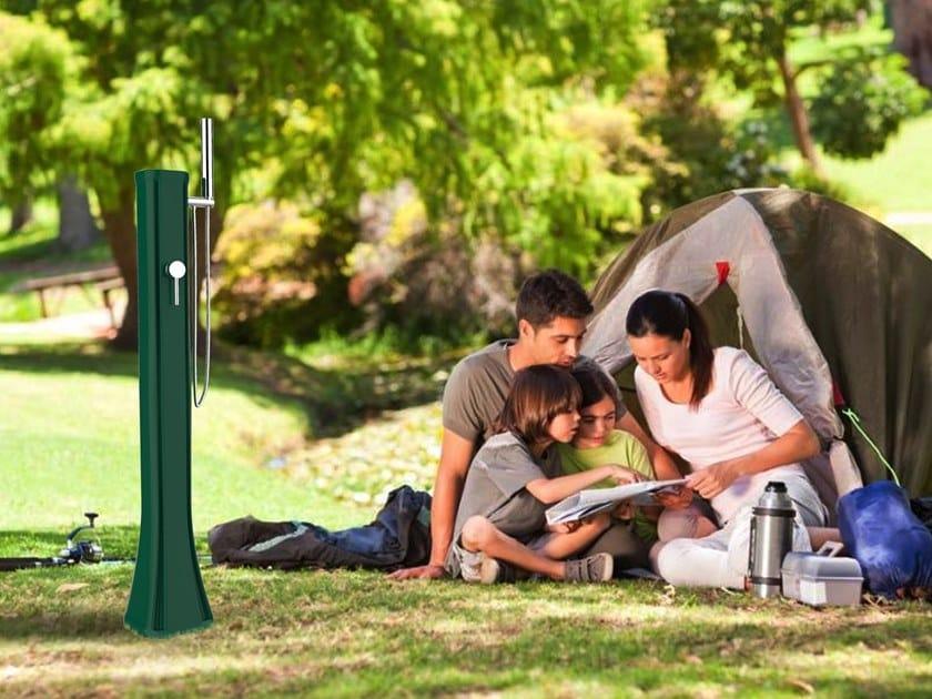 Portable Solar polyethylene outdoor shower with hand shower HAPPY GO ...