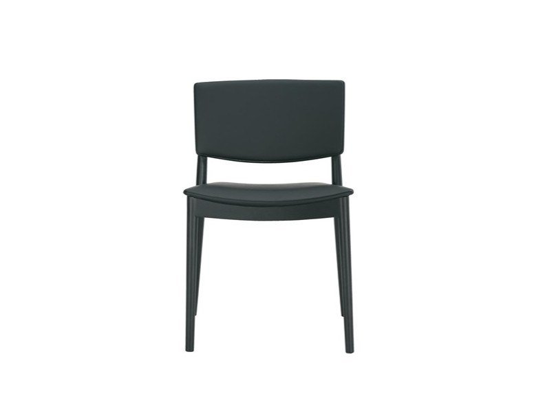 Upholstered stackable chair HAPPY SI0376 by Andreu World