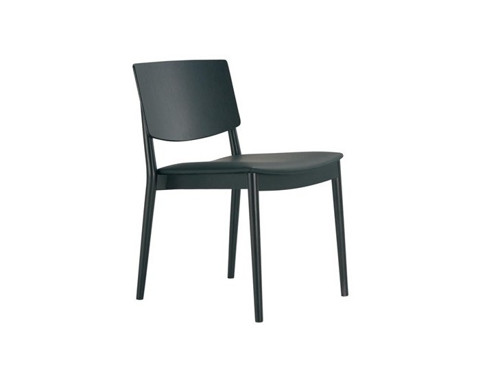 Stackable chair with integrated cushion HAPPY SI0377 by Andreu World