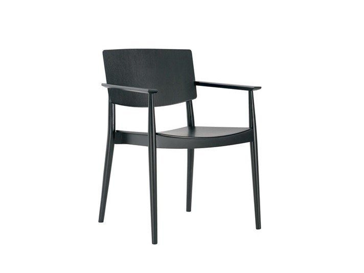 Wooden chair with armrests HAPPY SO0375 by Andreu World