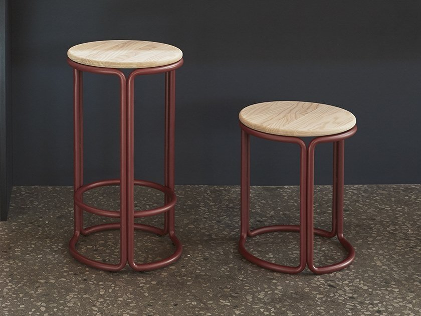 Hardie Steel And Wood Stool By Please Wait To Be Seated Design Philippe Malouin