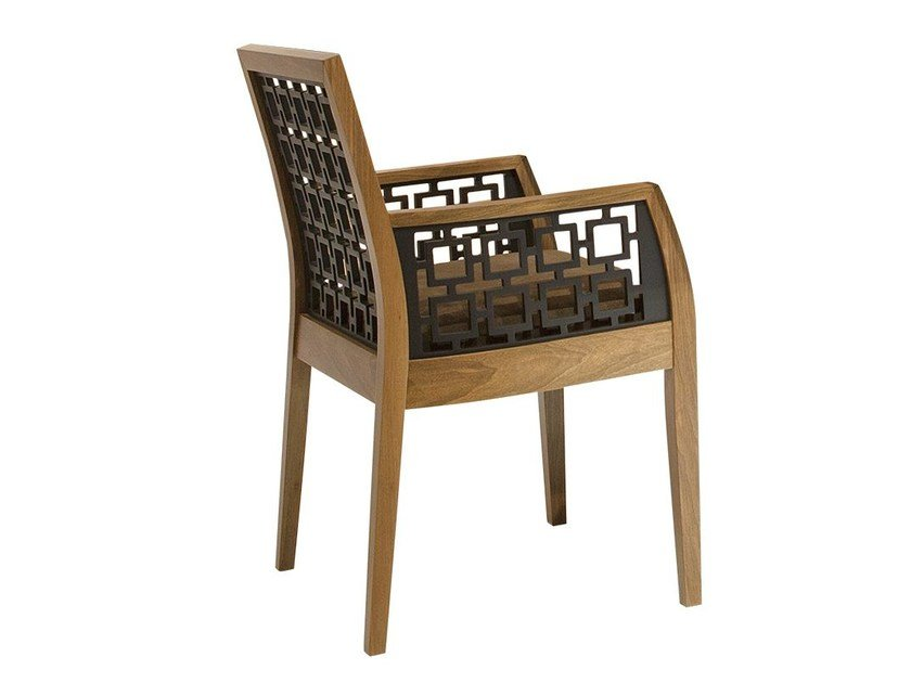 Wooden chair with armrests HAREM | Chair with armrests by Mobi