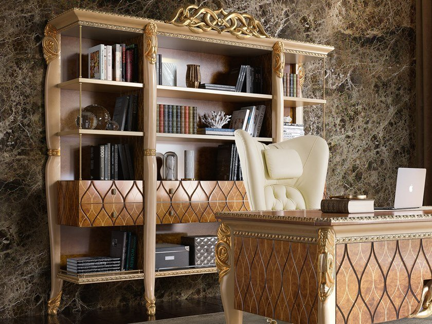Freestanding shelving unit HARMONY | Bookcase by A.R. Arredamenti