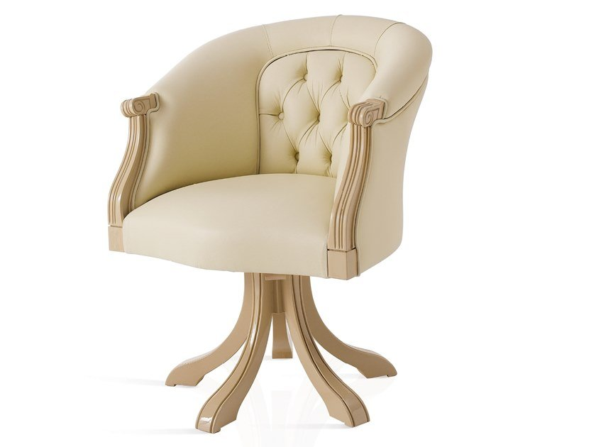 Tufted leather easy chair HARMONY | Tufted easy chair by A.R. Arredamenti