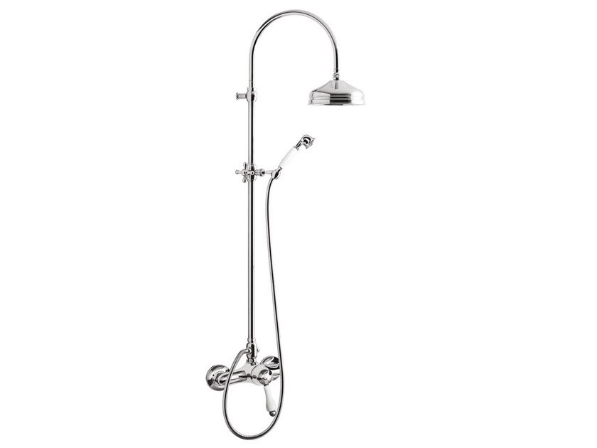 Wall-mounted shower panel with overhead shower HARMONY - HARMONY CRYSTAL - 9508SWC-S by Rubinetteria Giulini