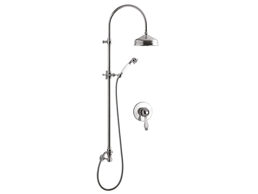 Wall-mounted shower panel with overhead shower HARMONY - HARMONY CRYSTAL - 9515WC-S by Rubinetteria Giulini