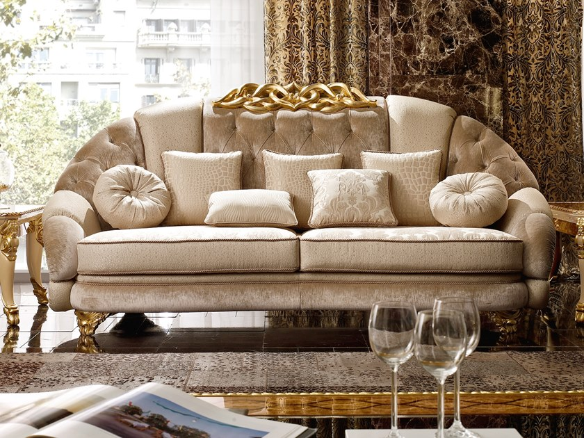 Tufted fabric sofa HARMONY | Sofa by A.R. Arredamenti