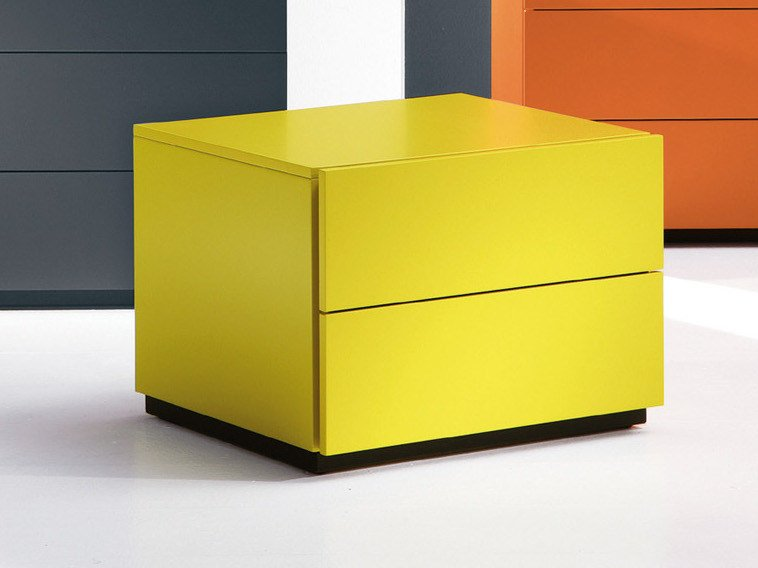Rectangular bedside table with drawers HARU | 60 cm by EmmeBi
