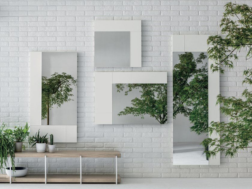 Rectangular wall-mounted mirror HASHTAG by Gruppo Tomasella