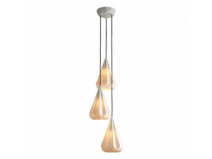 Porcelain pendant lamp with dimmer HATTON 3 | Porcelain pendant lamp by Original BTC