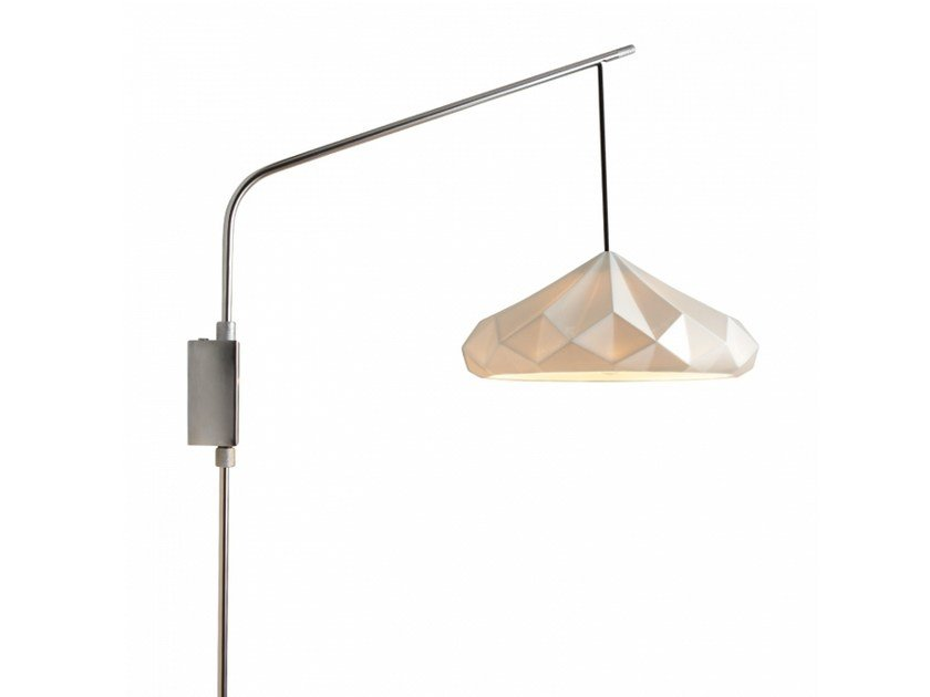 Porcelain wall lamp with fixed arm with dimmer HATTON 4 | Wall lamp with fixed arm by Original BTC