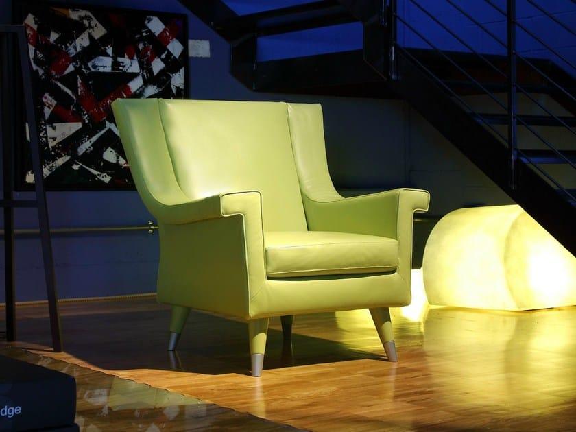 Bergere leather armchair HAVANA BERGERE by Bodema