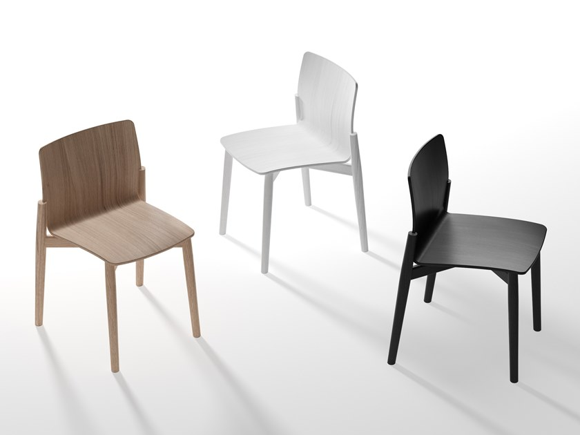 Multi-layer wood chair HAXO by B-LINE