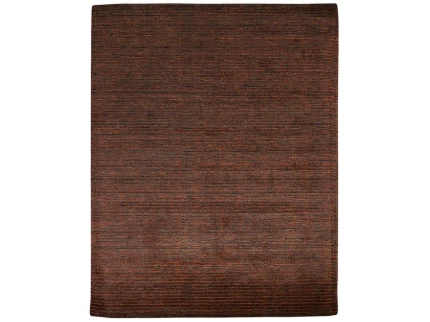 Handmade rectangular rug HAZAN MINI STRIPES BROWN ORANGE by EBRU