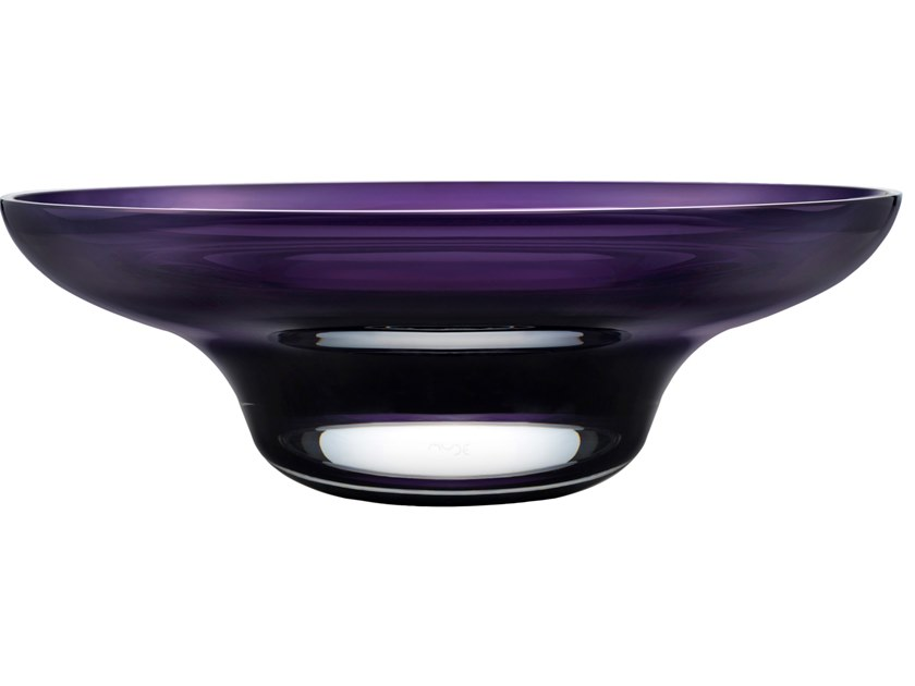 Crystal serving bowl HEADS UP SMALL by NUDE