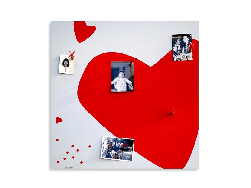 Magnetic dry erase board HEART by Designobject.it