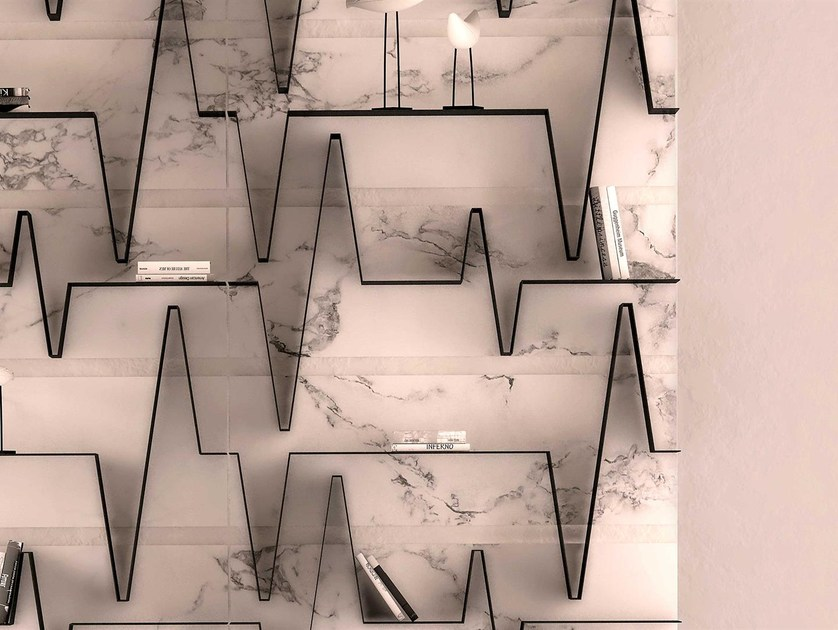 Open wall-mounted marble bookcase HEART   Marble bookcase by Boffetto