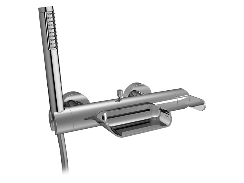 Wall-mounted bathtub mixer with hand shower HEAVEN | Bathtub mixer with hand shower by BIANCHI RUBINETTERIE