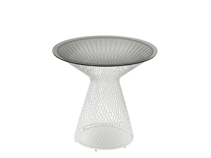 Crystal and steel coffee table / garden pouf HEAVEN | Coffee table by emu