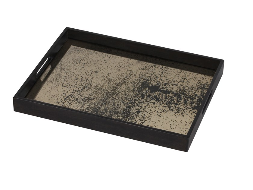 Rectangular wooden tray HEAVY AGED BRONZE MIRROR | Rectangular tray by Notre Monde