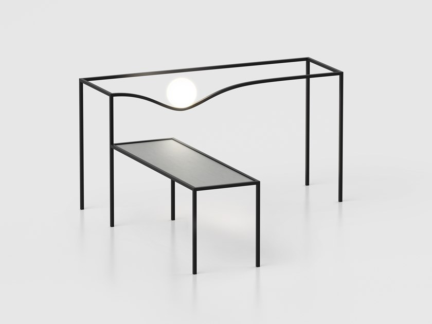 Stainless steel coffee table with light HECO | Coffee table with light by Flos
